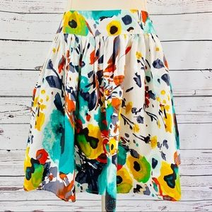 Wet Seal floral watercolor multi colored pleated